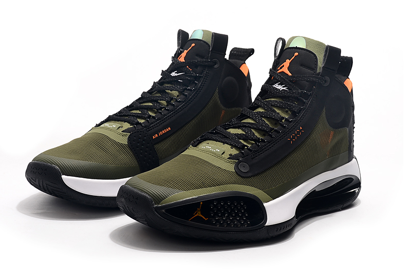 2019 Jordan 34 Army Green Black Orange
