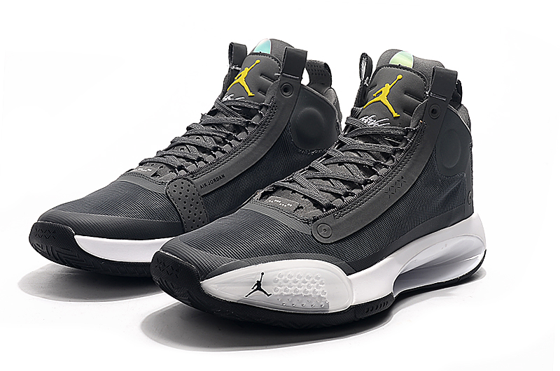 2019 Jordan 34 Cool Grey Yellow