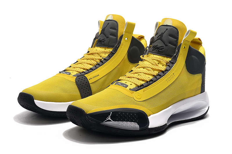 2019 Jordan 34 Yellow Black White