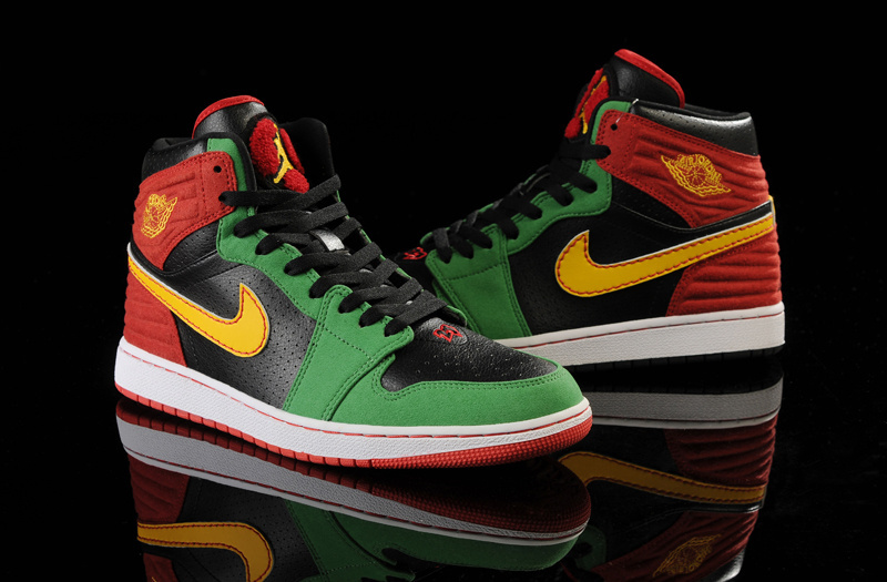 Air Jordan 1 Retro '93 Black Green Red Yellow Shoes