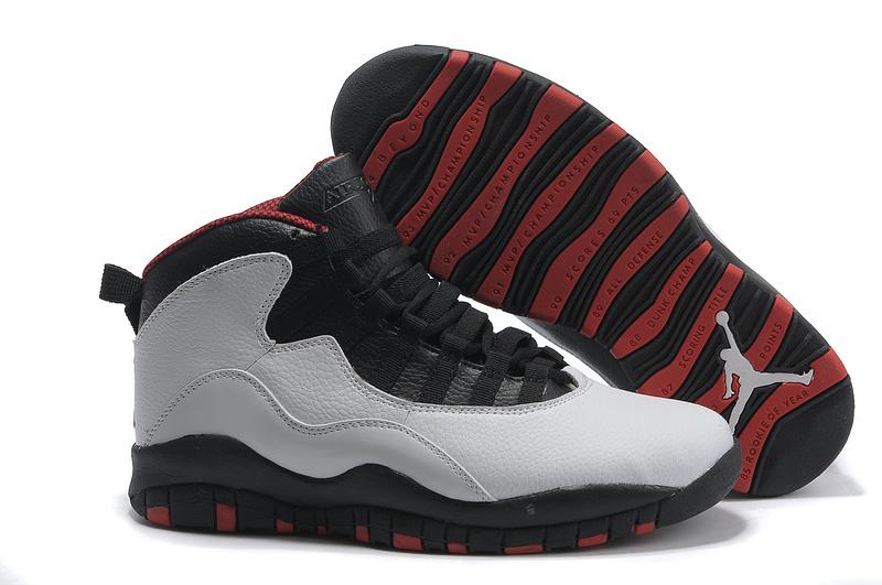 check out 53396 9b8b1 Air Jordan Retro 10 Shoes Black Grey Red