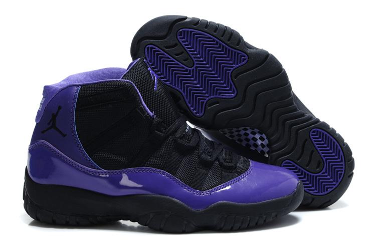 online store 64d43 12772 Authentic Jordan 11 Black Purple For Women