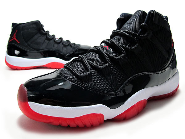 New Air Jordan Retro 11 Bred Black Red Shoes
