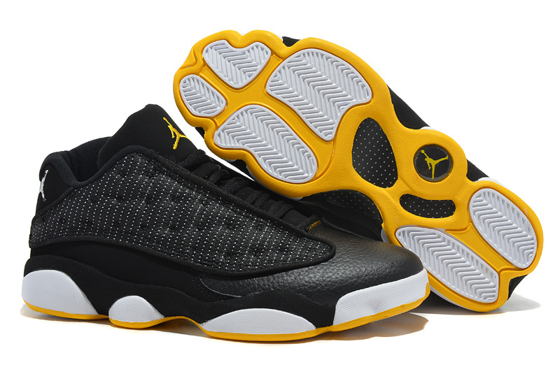 Air Jordan 13 Low Black White yellow Shoes