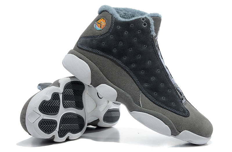 2013 Comfortable Air Jordan 13 Wool Grey White Shoes
