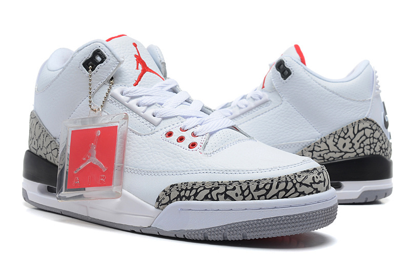 Air Jordan 3 Retro 88 White Fire Red Cement Grey Black