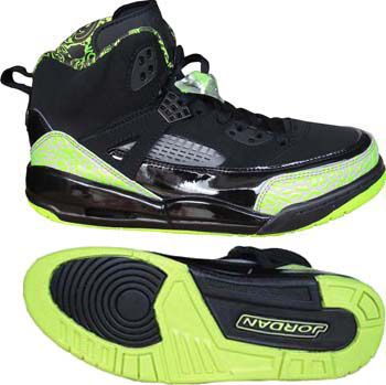 Real Air Jordan Shoes 3.5 Black Green