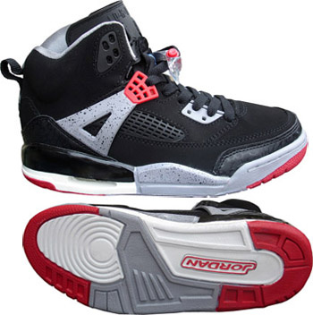 Real Air Jordan Shoes 3.5 Black Grey Red