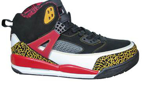 Real Air Jordan Shoes 3.5 Black Yellow Red