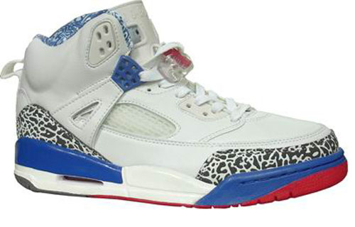 Special Jordan Shoes 3.5 White Blue Red