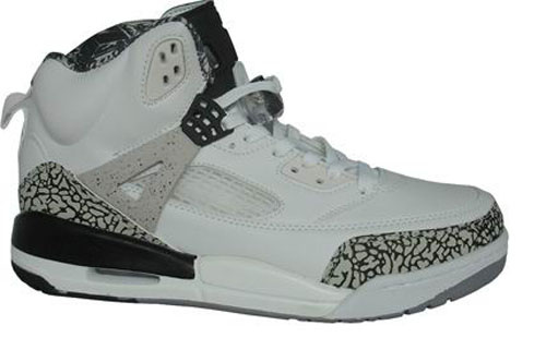 Special Jordan Shoes 3.5 White Grey Black