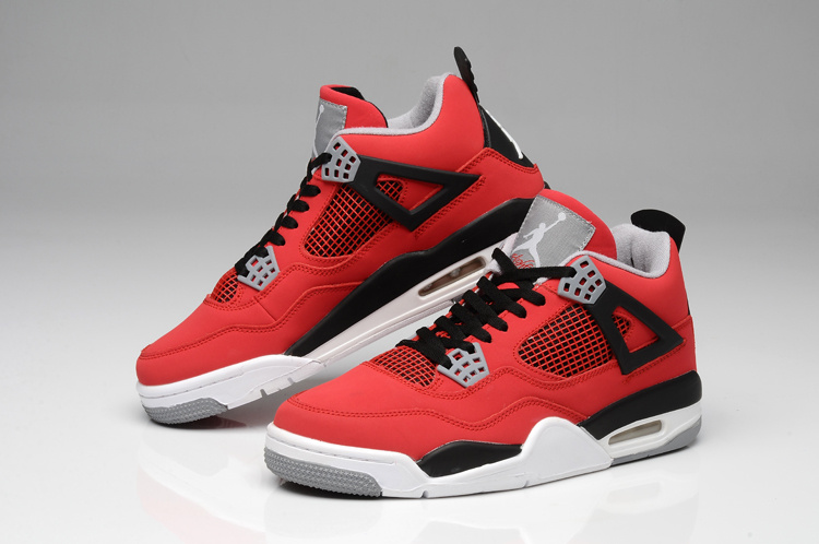 2013 Jordan Retro 4 Bulls Colors Red White Black