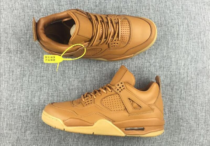 Air Jordan 4 Premium Ginger Wheat Gum Yellow