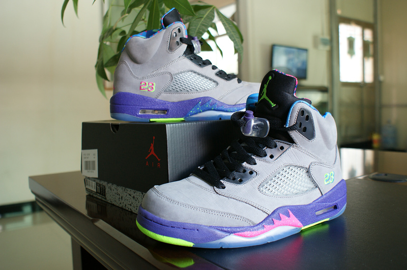 26eda80be1b75b Air Jordan 5 Mandarin Duck Edition Grey Purple Pink Green Shoes