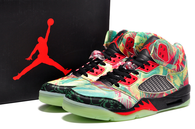 2ca068654fde7 New Air Jordan Retro 5 Maple Leaf Midnight Shoes