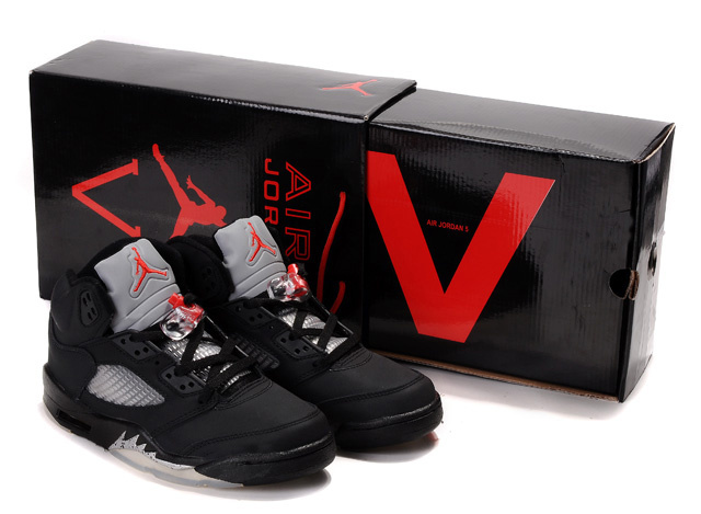 Authentic Jordan 5 Hardback Box Black White Red