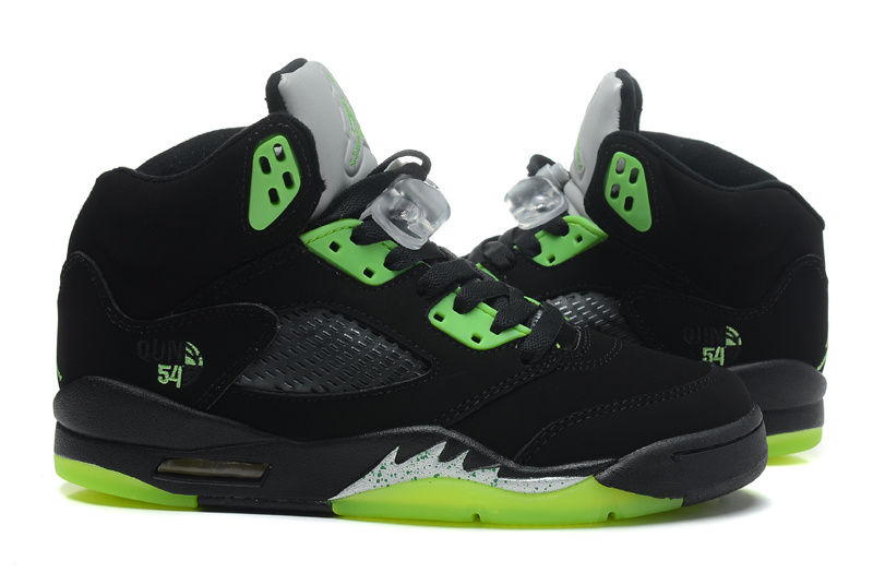 Air Jordan 5 Retro Quai 54 Black Radiant Green Cheap