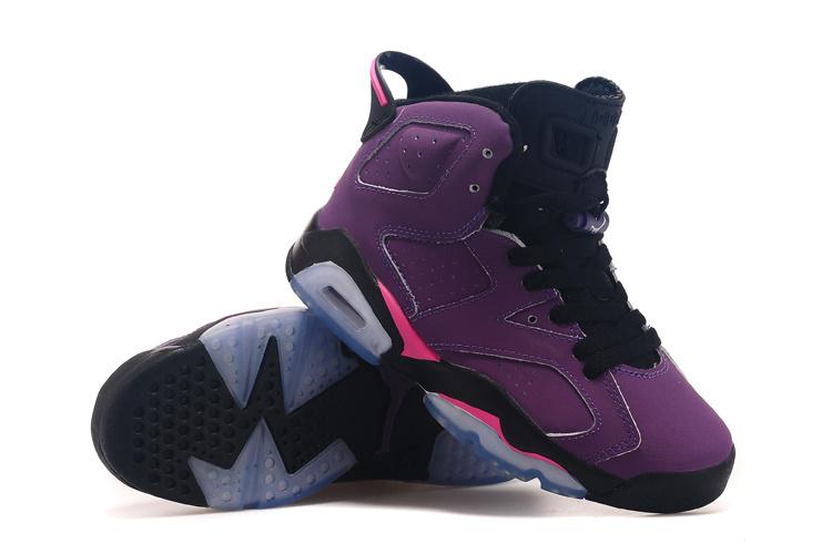 the best attitude 3ae07 82c64 2015 Real Air Jordan 6 Grape Black Shoes For Women