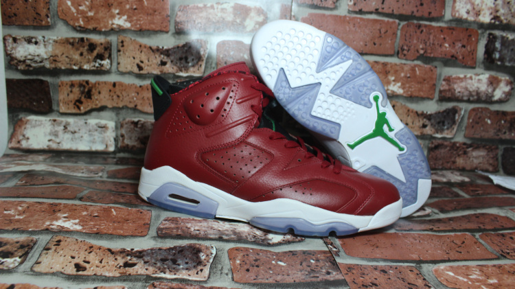 2015 Air Jordan 6 History of Jordan Christmas Red MVP Shoes