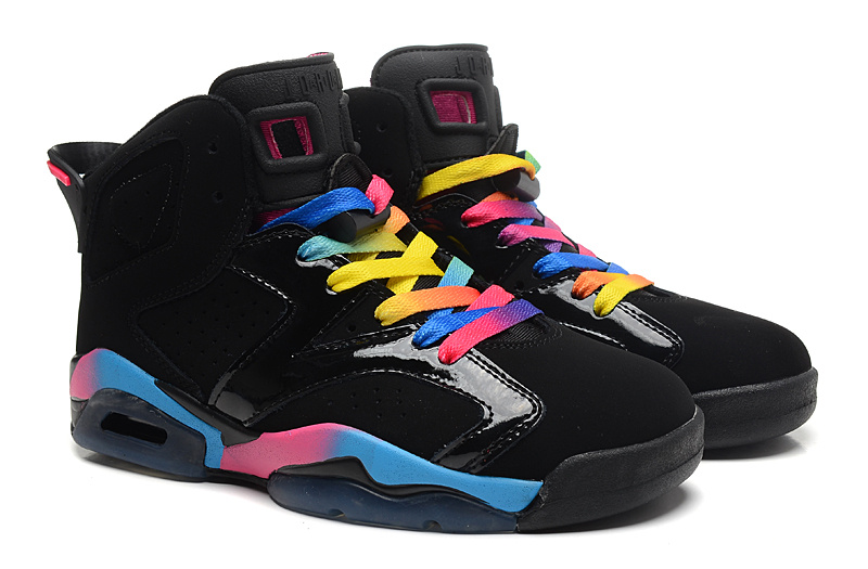 Air Jordan 6 VI Retro Black Pink Flash Marina Blue