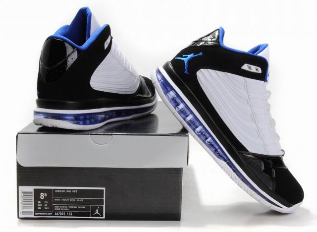 Cheap Jordan Big Ups White Black Blue Shoes