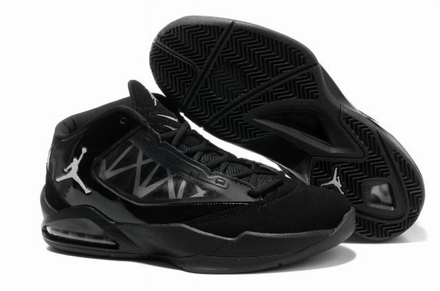 2012 Jordan Flight The Power All Black Shoes