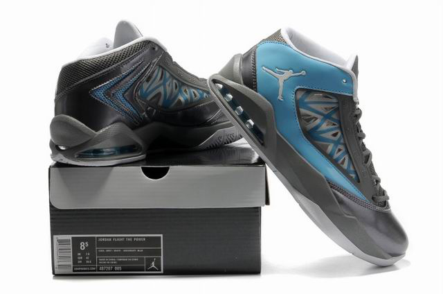 2012 Jordan Flight The Power Grey Blue Shoes