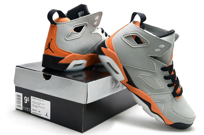 2013 Jordan Fltclb 911 Black Grey Orange Shoes