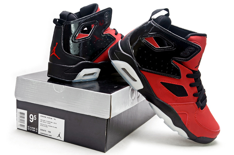 2013 Jordan Fltclb 911 Black Red White Shoes
