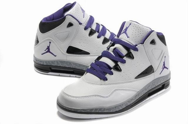 Authentic Jordan Jumpman H Series II White Purple Shoes