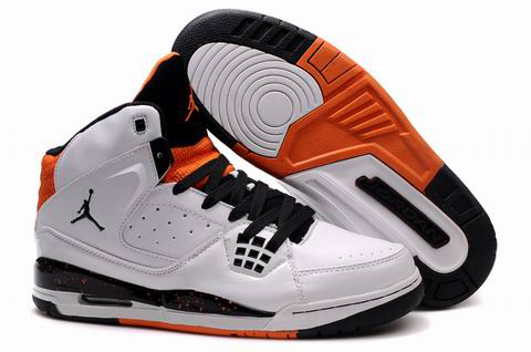 Authentic Jordan Jumpman Shoes White Black Orange