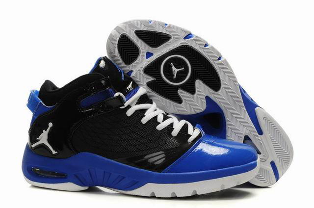 Air Jordan New School Black Blue White Shoes