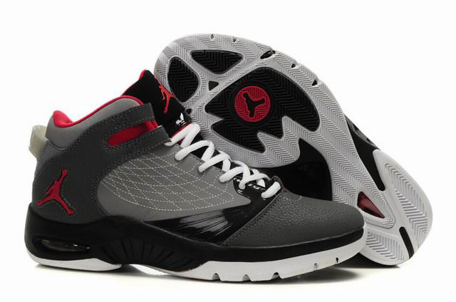 Air Jordan New School Grey Black Red Shoes