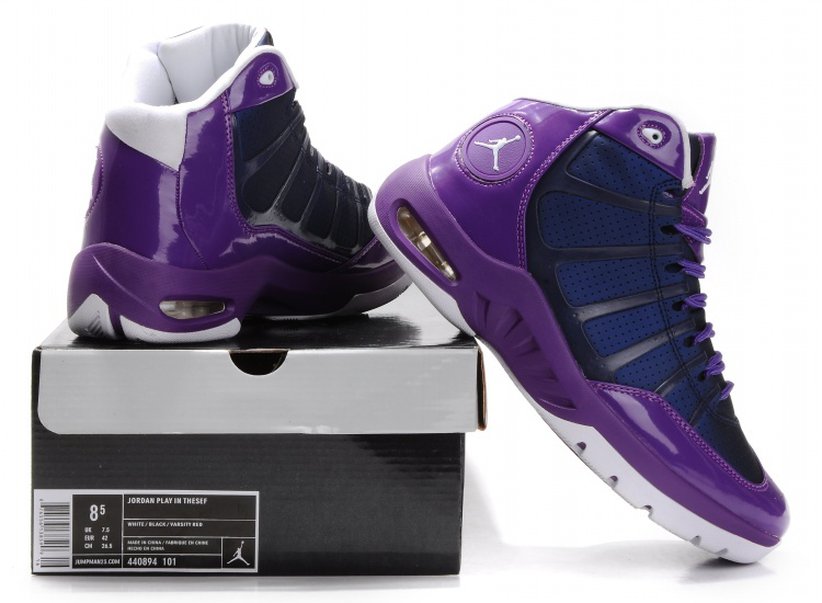 Air Jordan Play In Purple White Shoes
