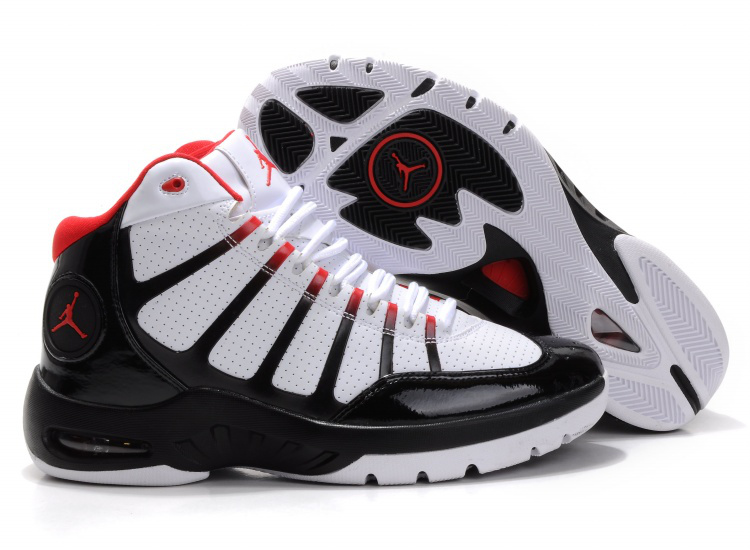 Air Jordan Play In White Black Red Shoes