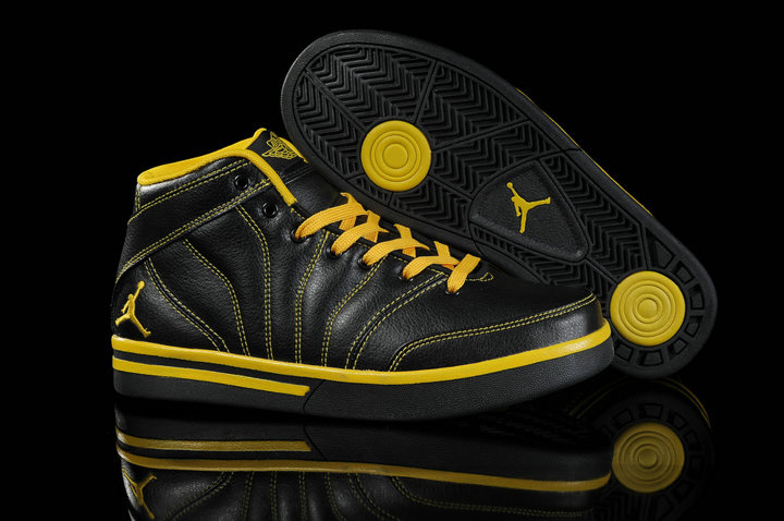 Authentic Jordan Pro Classic Black Yellow For Women - Click Image to Close
