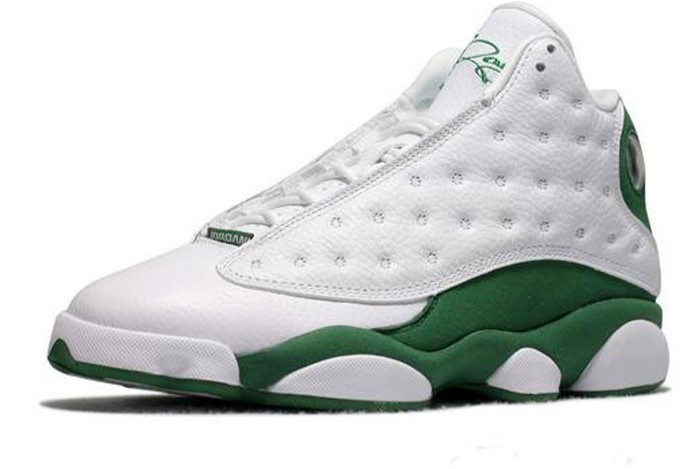 Authentic Jordan Retro 13 Shoes White Green