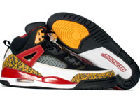 Classic Jordan Spizike Black Varsity Maize Varsity Red Shoes