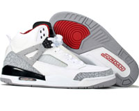 Classic Jordan Spizike White Cement Black Shoes