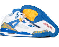 Classic Jordan Spizike White Varsity Red Pro Gold Argon Blue Shoes