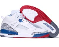 Classic Jordan Spizike White Varsity Red True Blue Shoes