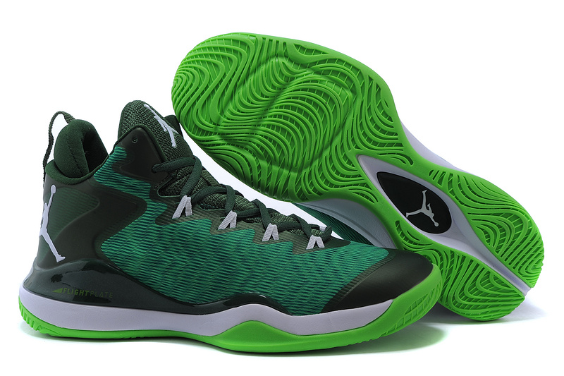 2015 Jordan Super.Fly 3 X Green Black White