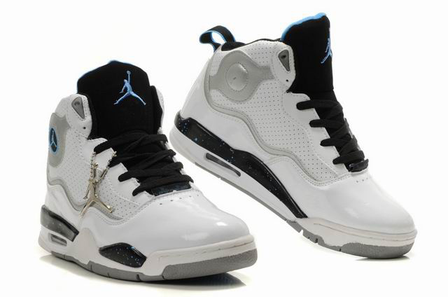 Special Jordan TC8 White Black Blue Grey Shoes