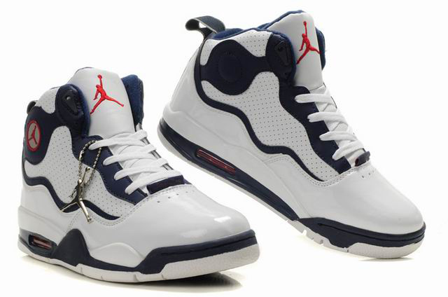 Special Jordan TC8 White Dark Blue Shoes