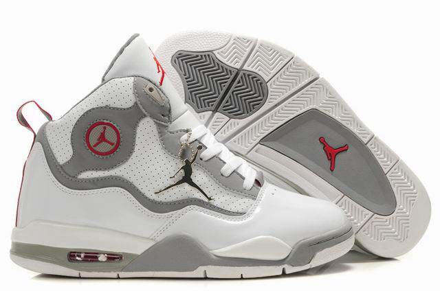 Special Jordan TC8 White Grey Red Shoes