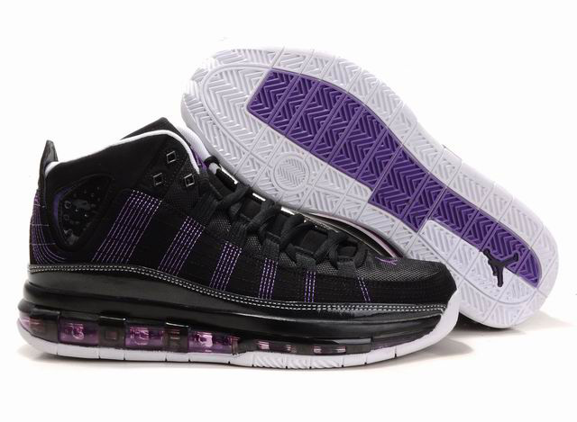 2012 Jordan Take Flight Black Purple White Shoes