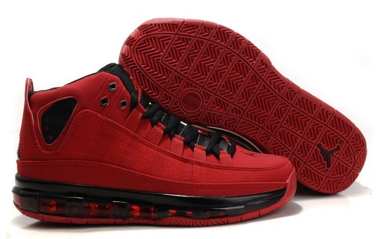 2012 Jordan Take Flight Red Black Shoes