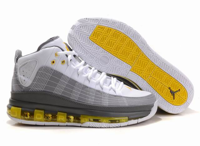2012 Jordan Take Flight White Grey Yellow Shoes