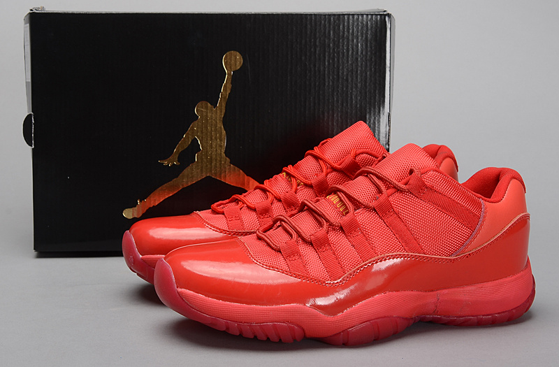 2015 All Red Jordan 11 Retro Shoes
