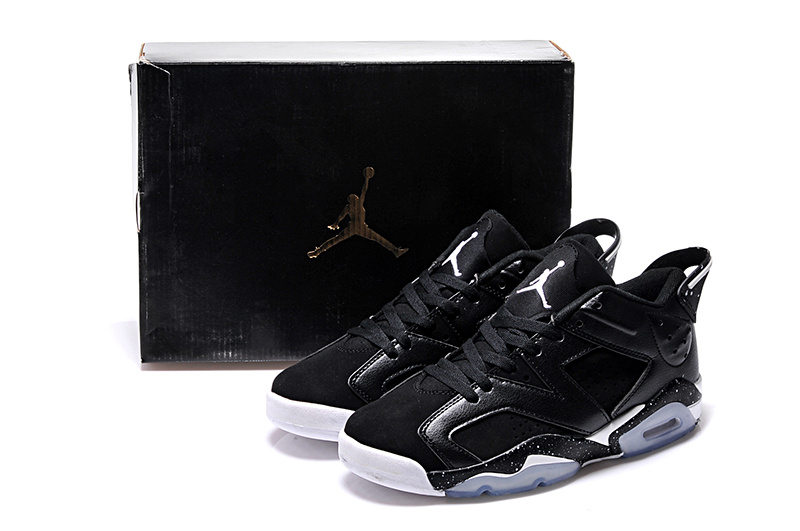952a3157cb44 2015 Black White Air Jordan 6 Low Lovers Shoes